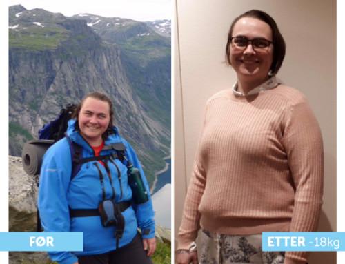 Edel Renate endret livsstil, og har nå en lettere og mer aktiv hverdag!