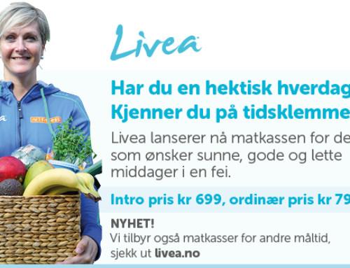 Livea lanserer nå matkassen for deg som ønsker sunne og raske måltider!