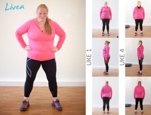 Camilla merker stor endring, og det kun etter 4 uker:)