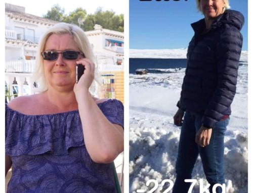 Monica endret livsstil med Livea i 2017, og nyter endringen den dag i dag!