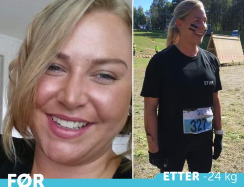 Stine fra Arendal kastet seg inn i en ny tilværelse, med ny livsstil og jobb. og hun stråler!