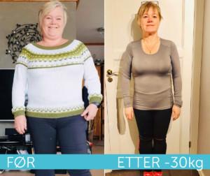 Elisebeth før og etter