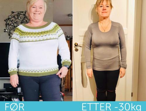 16 uker med Livea – 30 kg lettere og fri fra sykdom og fysiske plager