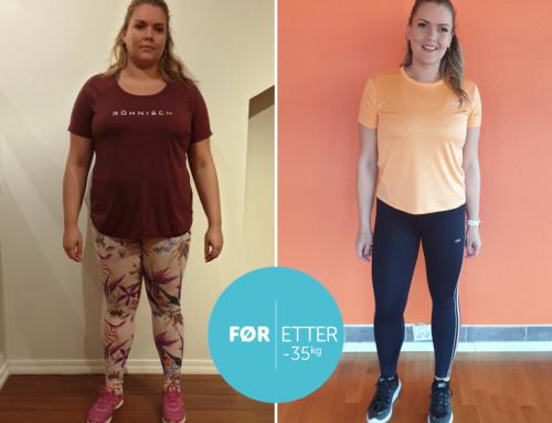 Linnveig har gått ned i vekt, fått en sterkere kropp, bedre kjernemuskulatur, og et sunnere kosthold.