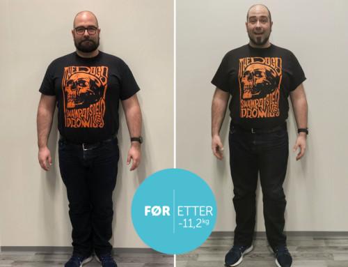 Cato deltok på Xpress kurs, gikk ned 11 kg og fikk treningsgleden tilbake!